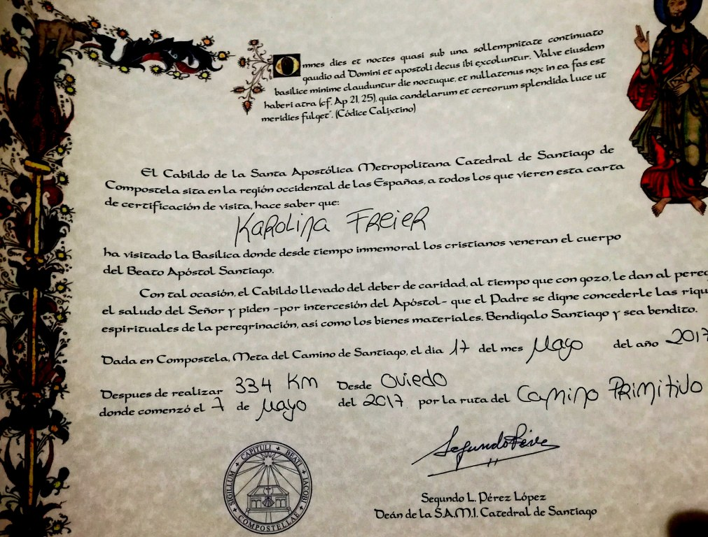 a_named_certificate_after_completing_the_camino_primitivo