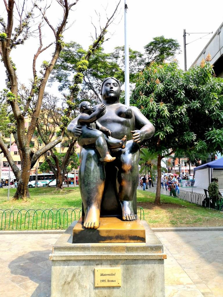 a_bronze_sculpture_in_a_square_in_medellin