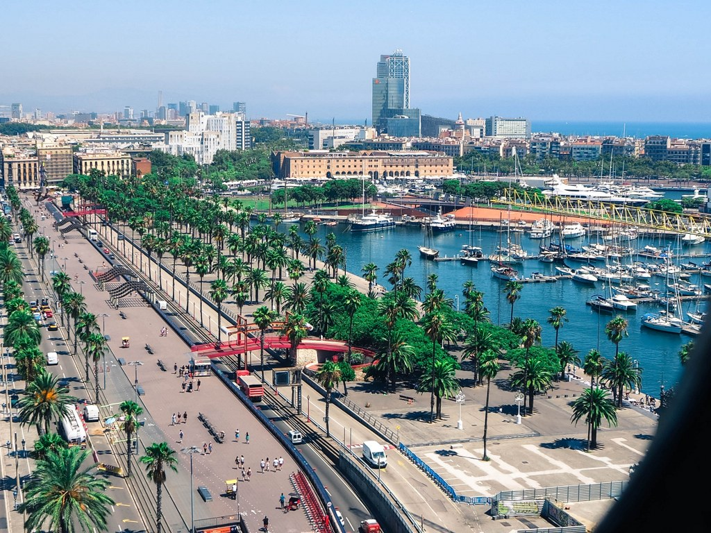 panorama_of_harbour_in_barcelona_with_dozens_of_yacjts_and_palm_trees