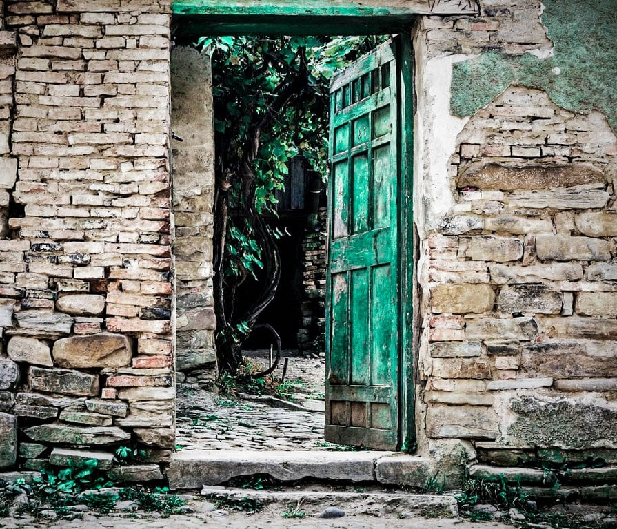 old-green-doors