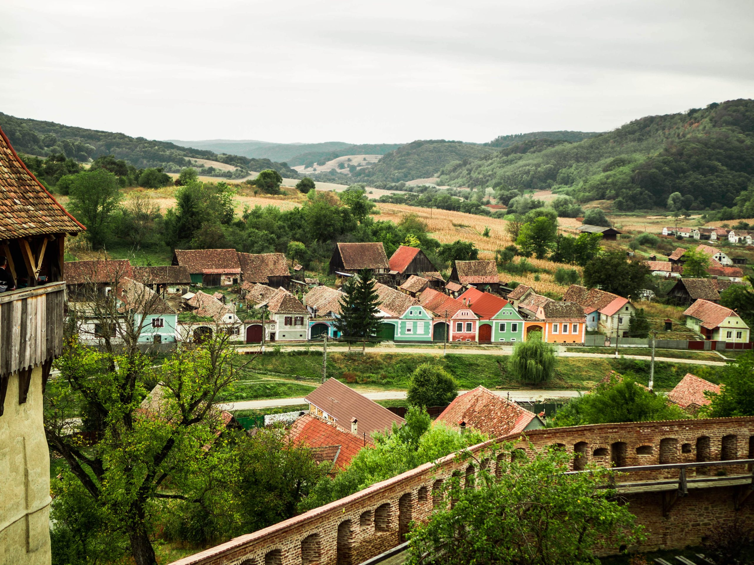 view-on-romanian-villeage